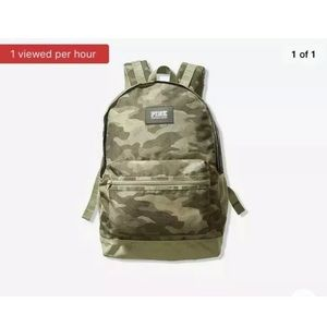 Victoria's Secret PINK Camo Backpack Book Bag NWT